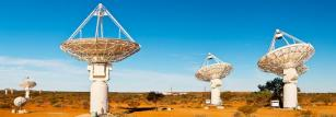 CSIRO's ASKAP antennas at the Murchison Radio-astronomy Observatory