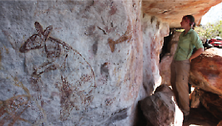 painted rock shelters