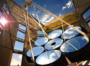 An artist's impression of the Giant Magellan Telescope. Image: GMTO