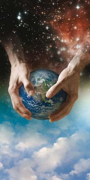 Image of creation of Earth by God