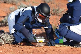 Retrieval of the capsule at Woomera. Credit: JAXA/ISIS