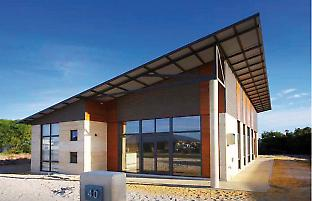 Example of a modern rammed earth house in Western Australia.