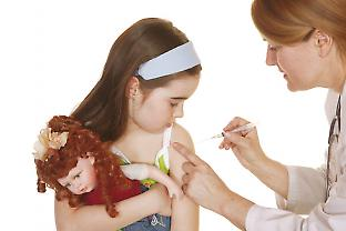 Girl receiving injection