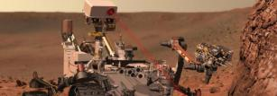 Curiosity using its Chemistry and Camera instrument