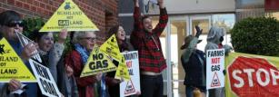 Protesters called for no further expansion of coal and coal seam gas.