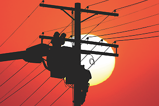 The sensors can be mounted on power poles tens of kilometres apart and used to locate a fault point and thus detect the incipient signs of a blackout and help to prevent it.