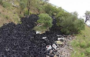 Only five percent of tyres are recycled locally in Australia. Picture: Boomerang